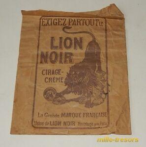 Ancien-SACHET-publicitaire-Cirage-LION-NOIR-MIROR