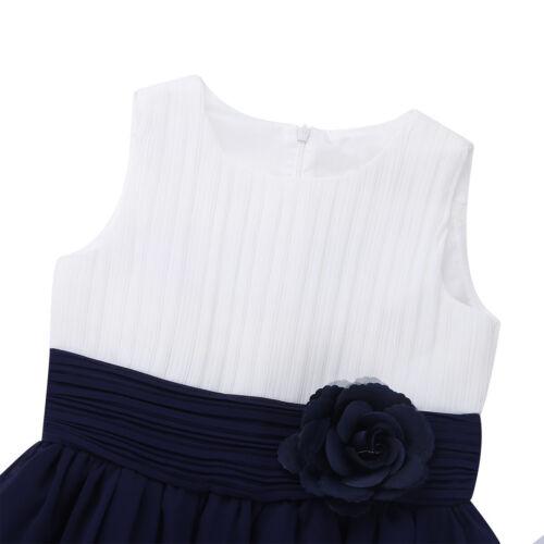 SMANICATO chiffon elegante vestito Fiori Ragazze vestiti ballo-Party Vestito