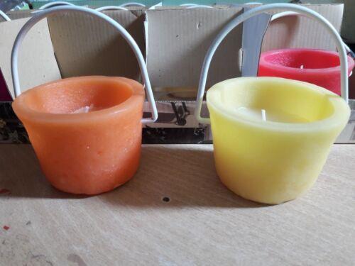 farbige Kerzen zum Hängen 4 St 12 Std Brenndauer Tolle Sommerdeko