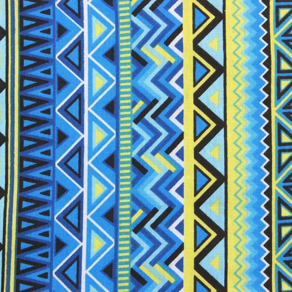 Homme Haut Shirt Retro Psychédélique Funky Party Ajustée Coupe Ajustée Party Bleu Aztèque 0643cd