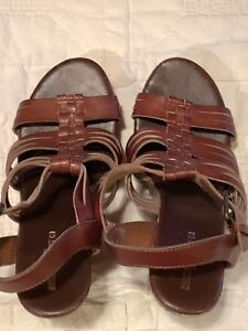 96faca45c400 Mossimo Supply Co Women s Size 9.5 Brown Leather Wedges 5