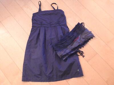Erfinderisch S.oliver Kleid Festlich Gr. 146 Mit Passendem Schal Blau Einen Einzigartigen Nationalen Stil Haben