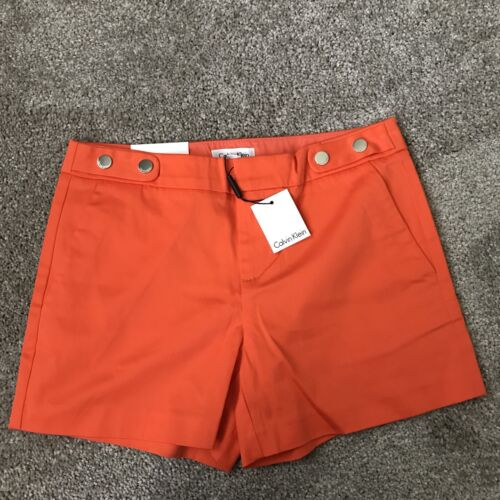 Inseam Calvin Nwt Arancia Pantaloncini 4 0 Klein taglia AqFWxYw