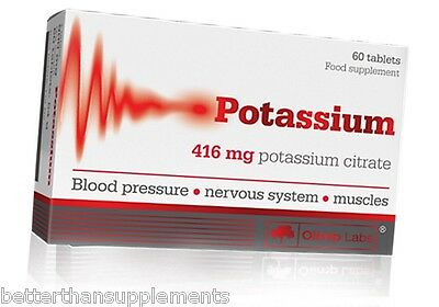 Olimp POTASSIUM 60 tabs. BLOOD PRESSURE • NERVE SYSTEM • MUSCLES free shipping !