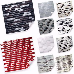 Selbstklebende Vinyl Mosaik D Fliesen Matten Zur Wandgestaltung - Vinyl matte fliesen
