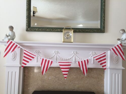 Red /& White Candy Stripes Poly Cotton Bunting Various Sizes
