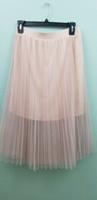 CHELSEA & VIOLET PLEATED MIDI SKIRT, BLUSH, NWT $53