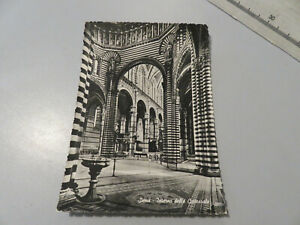 CP Carte Postale Période Sienne Interne de La Cathédrale Shipped 1955