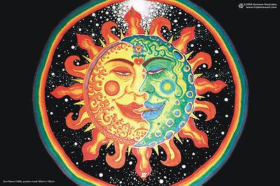 POSTER UV-Blacklight Fluorescent Glow-In-The-Dark Psychedelic Psy Goa Trance Art
