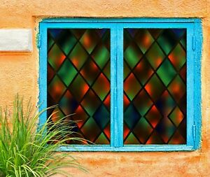 Details about  /3D Pattern 1697NAO Window Film Print Sticker Cling Stained Glass UV Block Fa