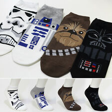 4 Pairs Men's Low Cut Casual Socks Star Wars Darth Vader Face Character Socks