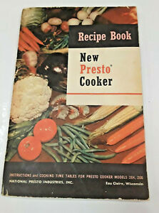 51751abd97957 Details about Vintage Presto Cooker Recipe Book