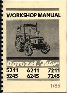 Details about 1985 ZETOR 5211/5245/6211/6245/7211/7245 Tractor Workshop  Manual Book