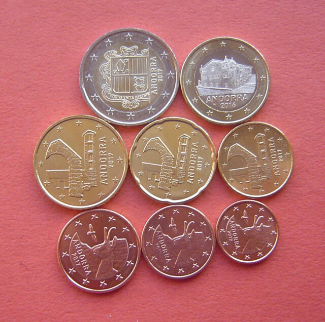 Cyprus 8 coins set 2008 1 C 2 EURO UNC #1484