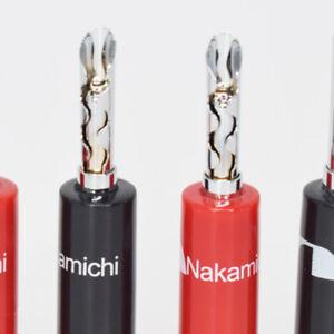 10pcs Nakamichi Rhodium Plated BFA-Z Solid Pin Banana Plug Speaker Connector