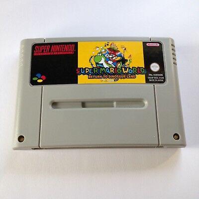 Super Mario Return To Dinosaur Land SNES Super Nintendo Video Game PAL  version | eBay