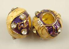 Clover Faberge Egg Bead Drip Gum Lime Clear Crystal Fit sterling 925 Bracelet f7