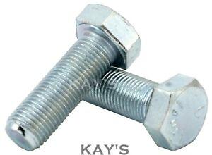 """3//8 x 4/"""" Unf HT Bolt Setscrews Grade S Zinc Plated Pack Of 5"""