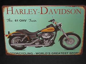 HARLEY-DAVIDSON-The-61-OHV-Twin-new-tin-signage-30cm-x-20cm