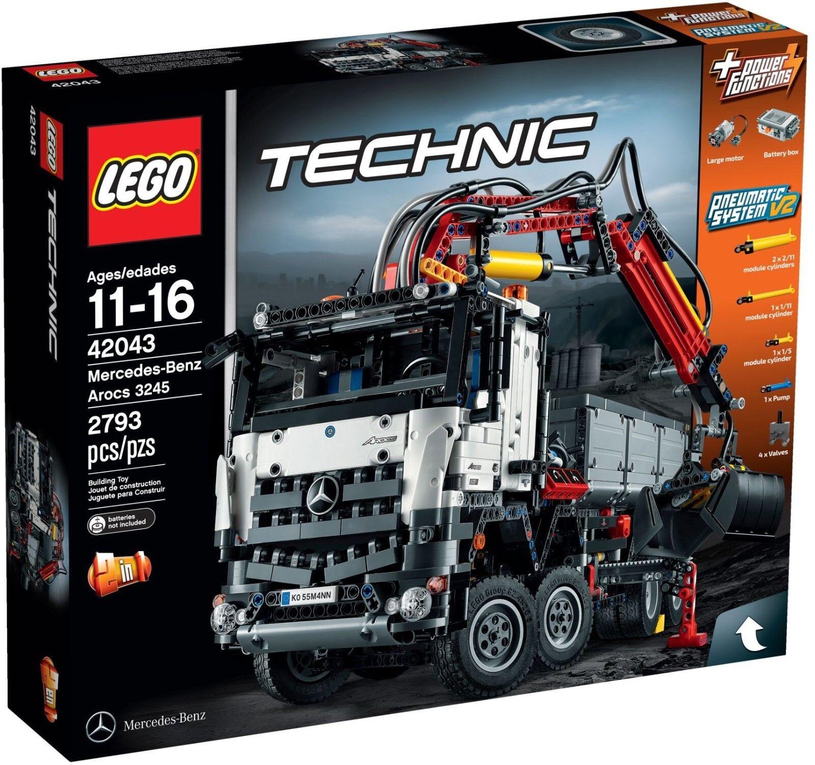 LEGO 42043 Technic Mercedes-Benz Arocs 3245 Brand NEW_2D