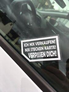 2x Nix Verkaufen Nix Karte Meins Aufkleber Auto Sticker