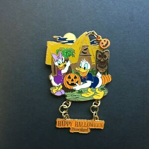 Disneyland-Railroad-Feliz-Halloween-2007-Pato-Donald-y-Daisy-disney-pin-56500
