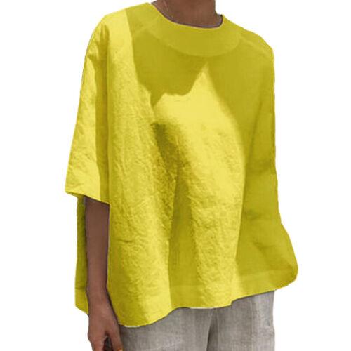 Übergröße Damen Sommer Bluse Kurzarm Freizeitshirt Lose Oberteil T-Shirt Strand