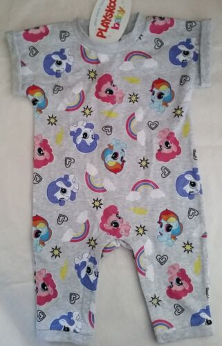 MY LITTLE PONY Girl Licensed one-piece romper all-in-one grey NEW sizes 000-00