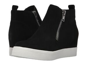 0bb434becbd Steve Madden Women's Wedgie Hidden Wedge Sneaker - Black Suede | eBay