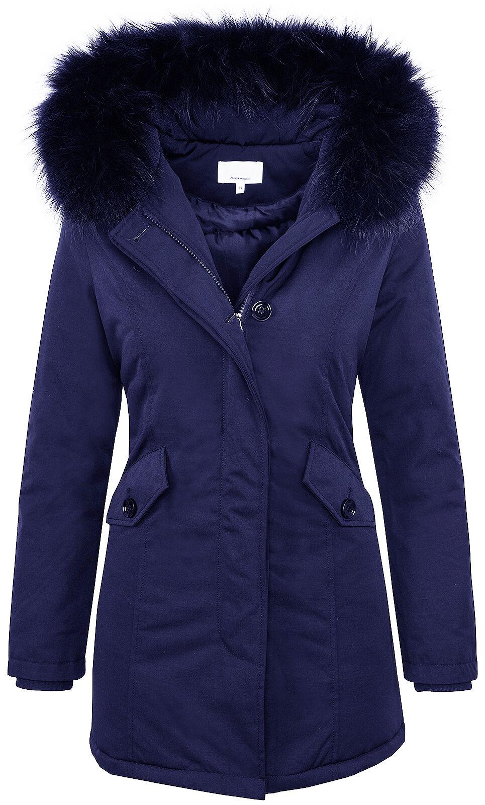Designer Giacca Invernale women Cappotto Cappotto Cappotto Eskimo Foderato 36 38 40 42 D-218 09043f