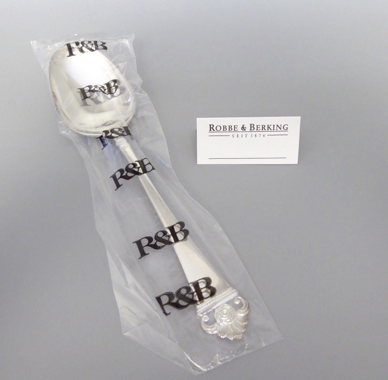 Robbe & Berking Roses Motif 150 Argenté légumes cuillère neuf (M)