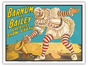 Image Is Loading Barnum Amp Bailey Greatest Show On Earth Clown
