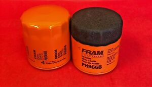 Lot of 2 Engine Oil Filter-Extra Guard Fram PH966B For AUSTIN, FORD, MERCURY, MG