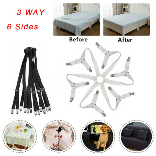 Bed Mattress Sheet Clips Holders Fasteners Grippers Straps Suspender Fitted UK