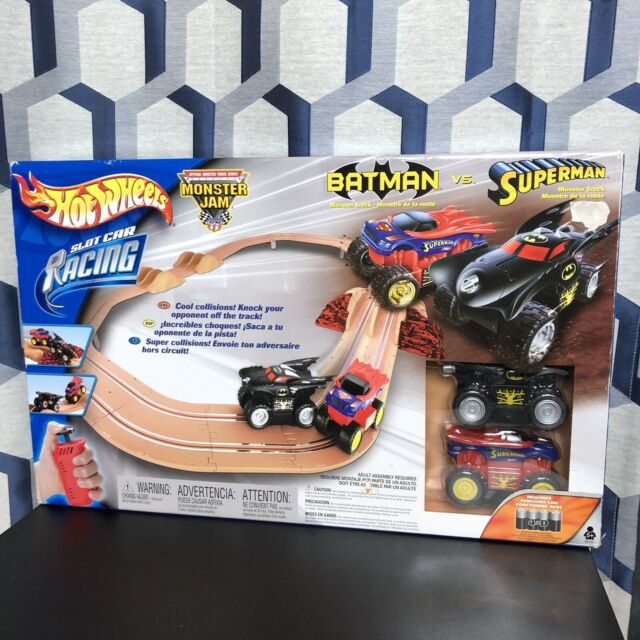 buy special section new design RARE 2002 Hot Wheels Monster Jam Slot Car Racing Set Grave Digger VS Hulk