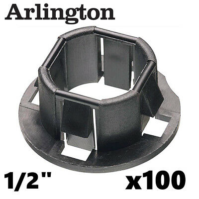 Arlington 4400 Plastic 1 2 Quot Snap In Bushings For Knockouts