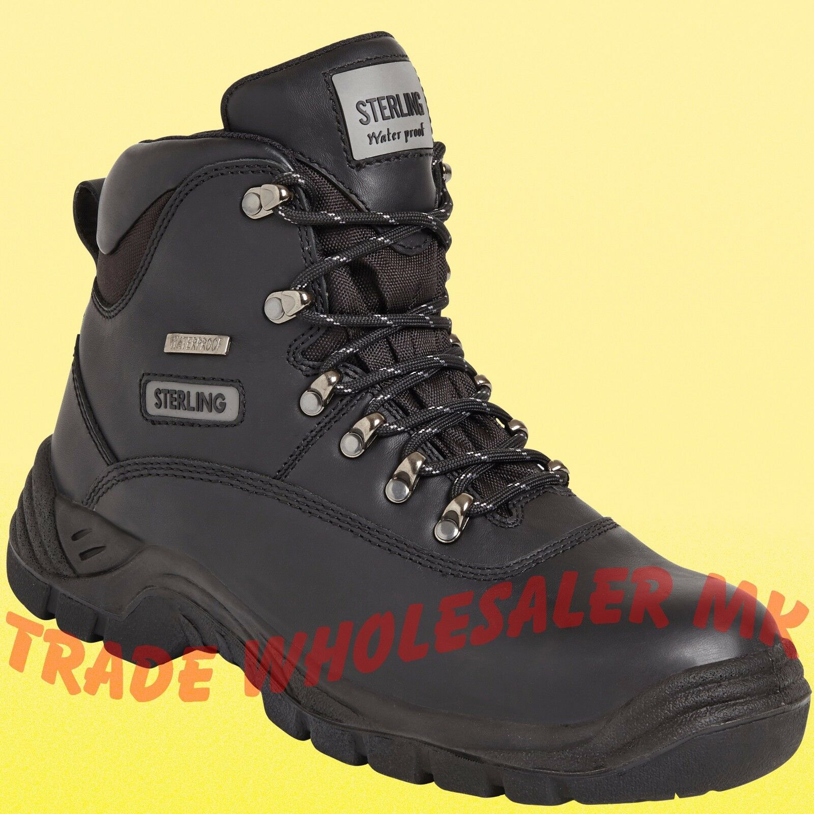 Safety boots Sterling SS812 Waterproof Steel Toecap Black Safety Work boots