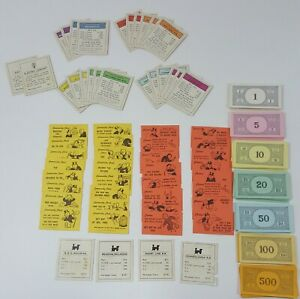 1961-Monopoly-Board-Game-Pieces-Money-Chance-Community-Chest-Parker-Brothers