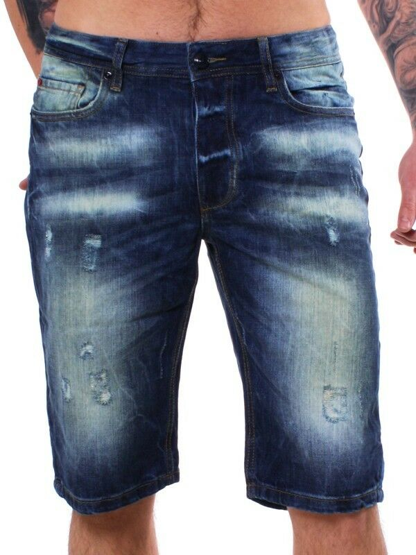 M.O.D Herren Jeans Shorts Hose JESPER medium destroyed Blau Blau Blau blau MOD SP13-BS516  | Günstige Preise  bd239d