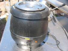 Commercial Pro 10 Quart Silver Electric Soup Kettle Warmer Restaurant