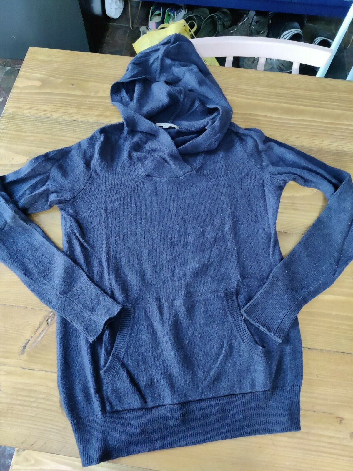 Gap Knitted Blue Hoodie Size S