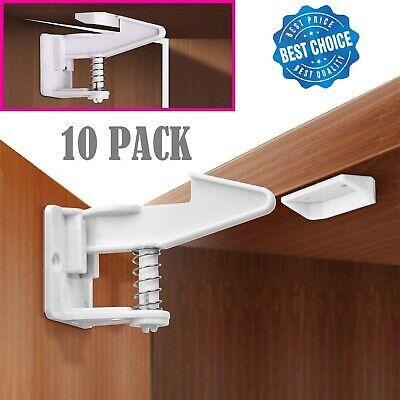 10 X Child Safety Cabinet Locks Baby, Best Kitchen Cabinet Baby Locks