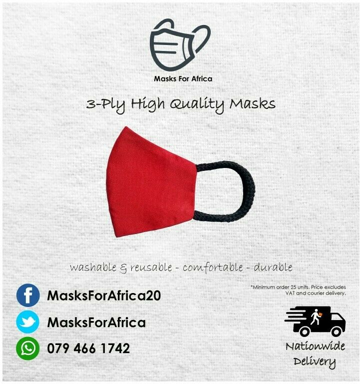 Quality 3-PLY Cloth Masks in stock