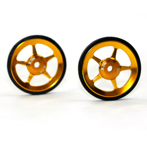 2pcs ACE Alloy Easy Wheels and Titanium Bolts For Brompton Bicycle Super Light