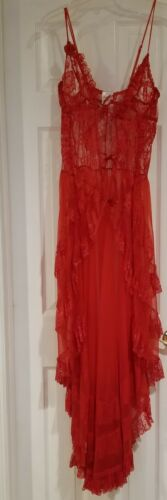 Fredericks of Hollywood Red Long Gown & Robe Size