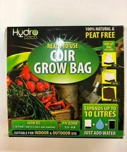 Details about Hydro Coco Coir Potting Garden Soil Grow Bag 100% Natural  Expand 10L IN-OUTDOOR
