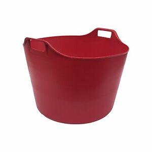 Rouge Extra Large 76 L Flexi Tub Seau Trug stockage Flexible Panier Heavy Duty  </span>