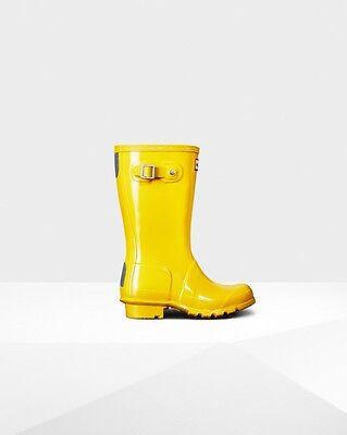 UK Child 7 - UK 11 Genuine Hunter Kids Little Sunlight Wellington Boots