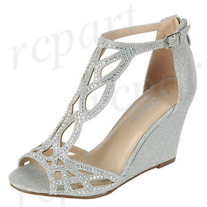 New women s shoes evening rhinestones buckle zip high heel wedding ... b21029947097