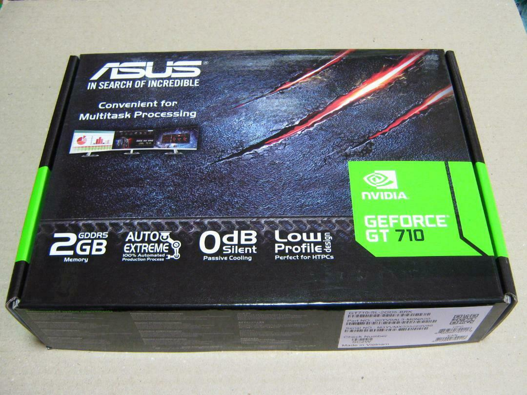 ASUS NVIDIA Video Card GT710-SL-2GD5-BRK equipped with GT710 NEW
